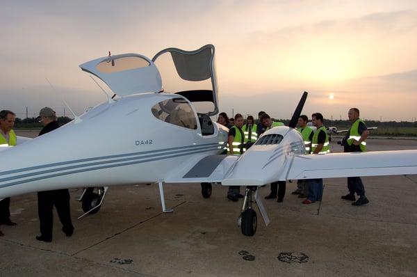 Alumnos de CESDA, escuela de pilotos (Reus)