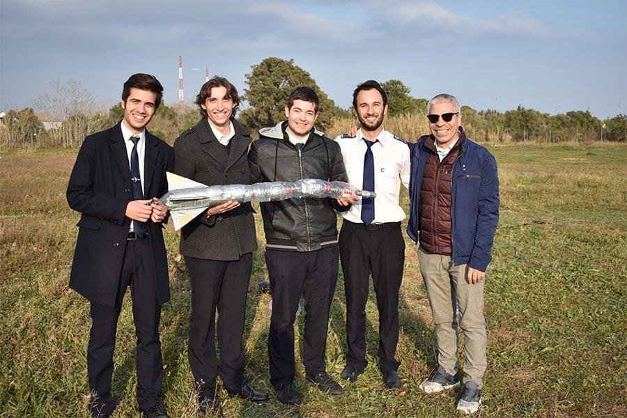 Competición de Water Rockets en el día CESDA 2019